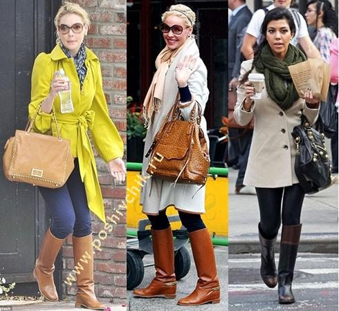 С чем носить женские жокейские сапоги варианты с тренчкотом фото