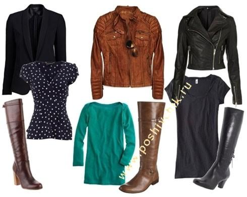 С чем носить женские жокейские сапоги варианты с жакетом фото