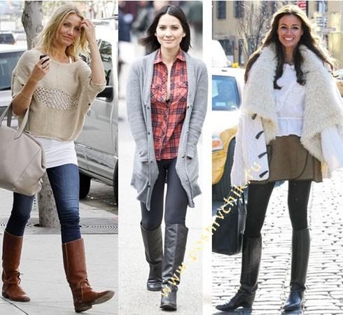 С чем носить женские жокейские сапоги варианты с разным верхом фото