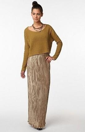 С чем носить длинную юбку винтажный стиль фото