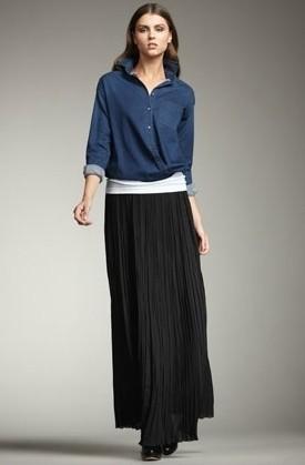 С чем носить длинную юбку в холодную погоду фото