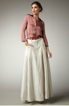 С чем носить длинную юбку в стиле бохо-шик фото