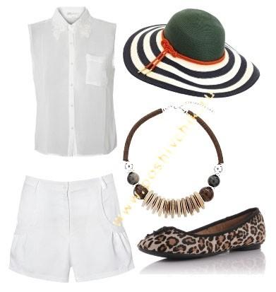 Сочетание белого цвета в одежде с милыми аксессуарами фото