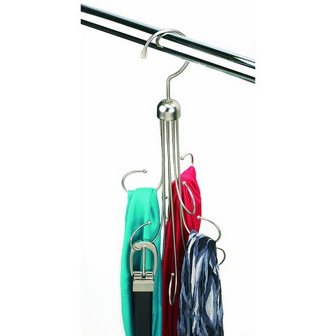 Металлическая вешалка для ремней, шарфов и галстуков фото