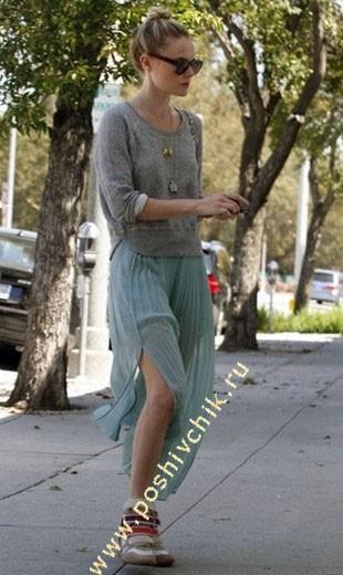 Kate Bosworth кроссовках на танкетке фото