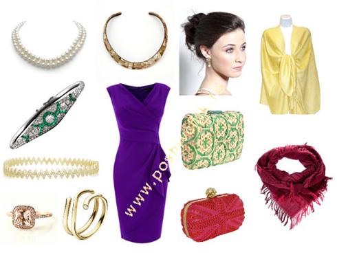 С чем носить вечернее фиолетовое платье тетрада цветов