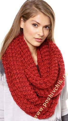 Вязаный шарф-кольцо из коллекции Paula Bianco