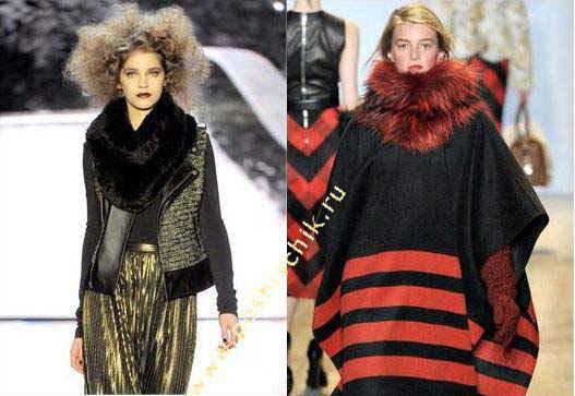 Снуды на модных показах от Badgley Mischka и Michael Kors