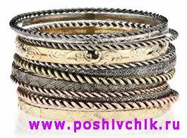 Модные ювелирные браслеты фото