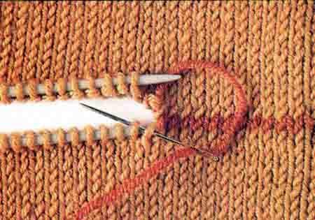 Трикотажный шов петля в петлю в вязании фото