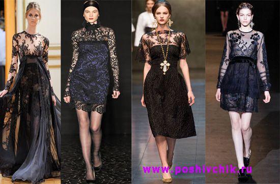 Черные платья для встречи нового года