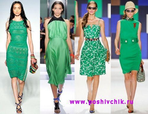 Модные платья зеленых оттенков на новый год деревянной лошади фото