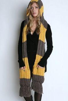 Модель шарфа капора английской резинкой