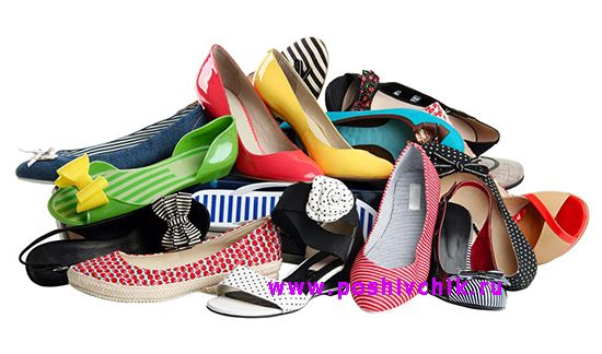 Фото женской обуви балетки и на высоких каблуках