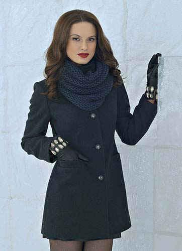 Пальто со снудом от Авалон фото