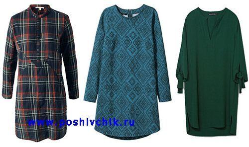 Туника, платье-рубашка и платье A-силуэта фото