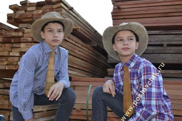 Галстуки из дерева для детей фото