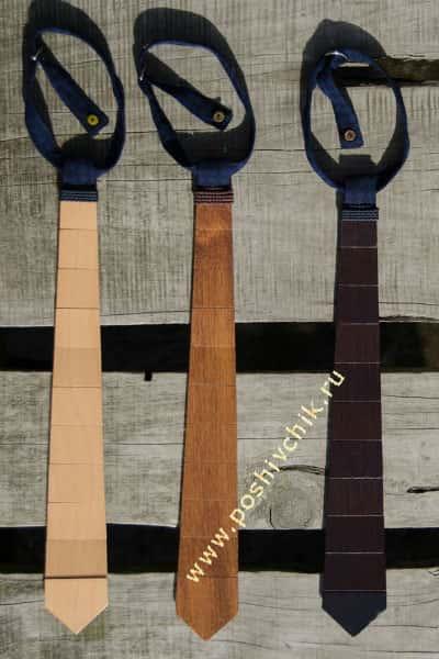 Фотографии деревянных галстуков в разных цветах