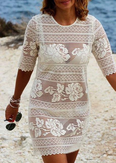 филейное платье с розами топ 10 моделей крючком со схемами и описанием