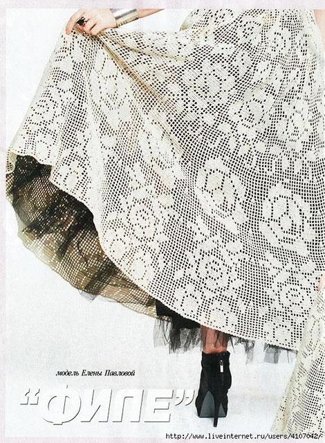 Узор на юбке платья крупно