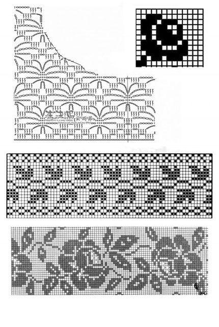 Схемы вязания платья