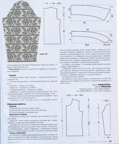Схема и описание вязания