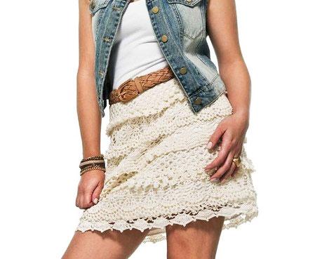 Молодежная короткая юбка