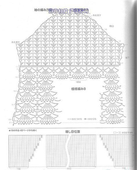 Схема вязания низа
