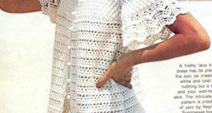 Белый ажурный халатик
