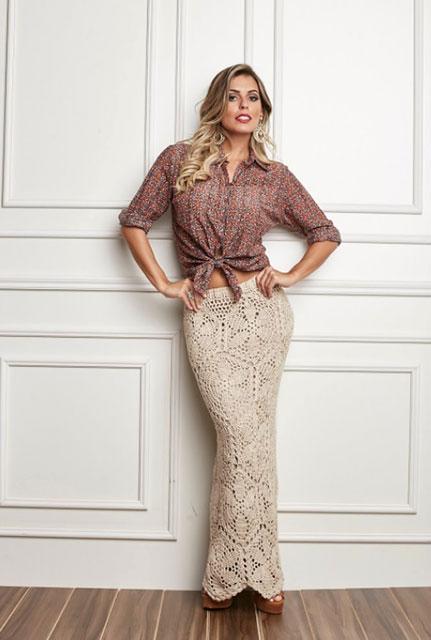 42e6efbd386 Макси юбки из мотивов крючком – 6 лучших моделей со схемами узоров и ...