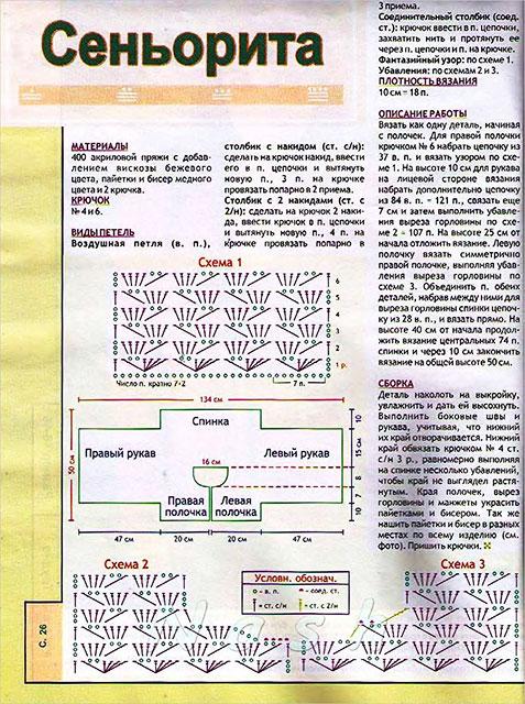 Описание вязание, схемы узоров и выкройка