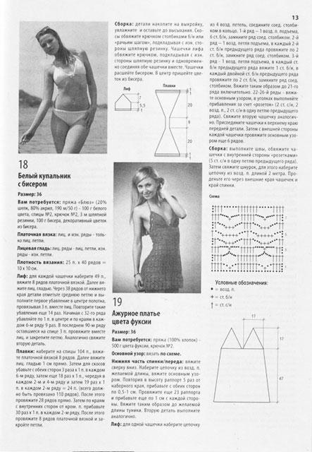 Схема и описание для платья цвета фуксии