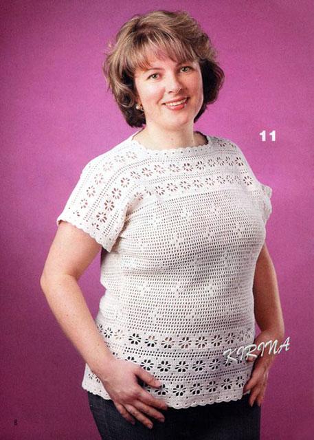 Воздушная белоснежная летняя блуза