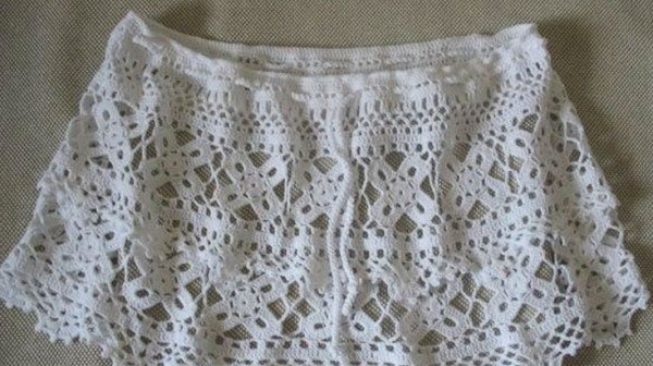 Связанная юбка крупно
