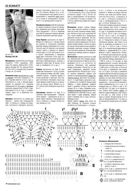 Описание вязания и схемы