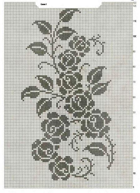 Схема с розами