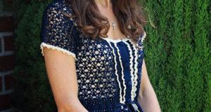 Красивейшая блузка крючком от Kate Middleton