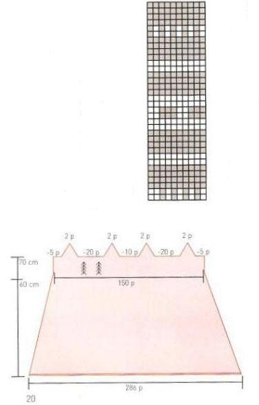 Схема узора и выкройка