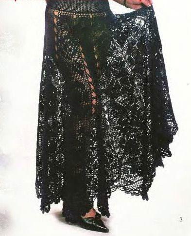 Ажурная летняя юбка «Черная роза»