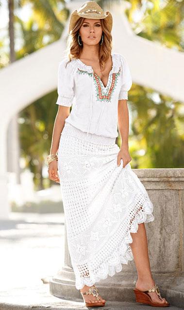 Шикарная юбка в стиле бохо