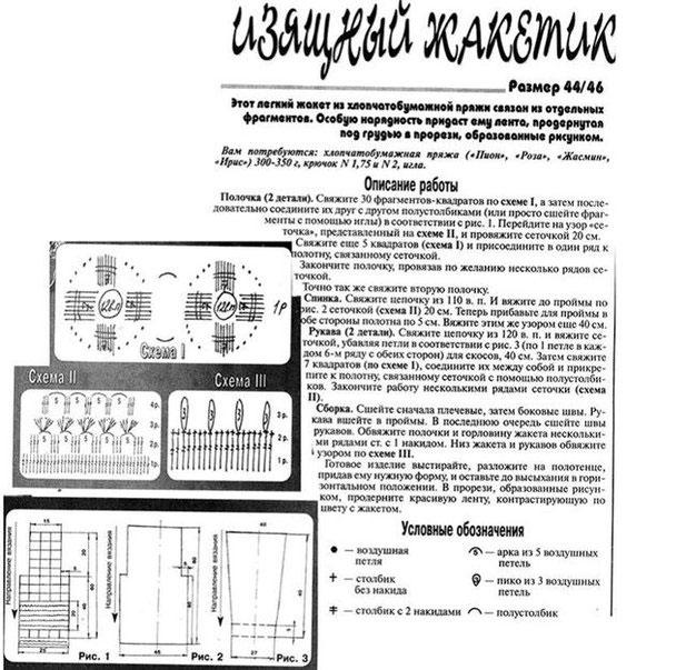 Выкройка, схема и условные обозначения