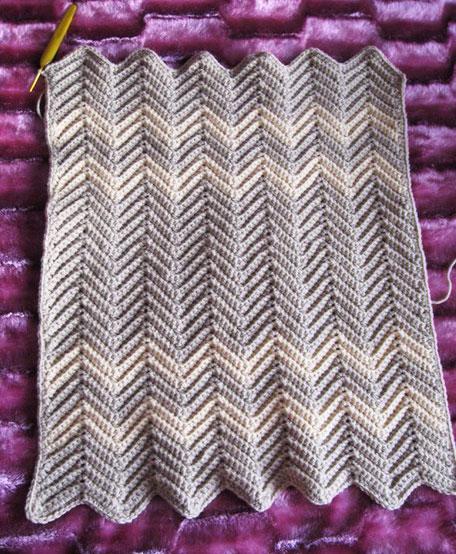 Готовое вязаное полотно