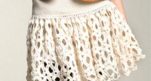 Белая юбка с оборками от Adam Lippes