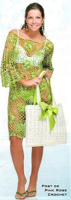 Офигенное пляжное платье-туника и сумочка