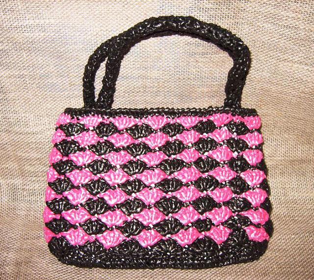 Пляжная сумочка из пакетов «Малинка»