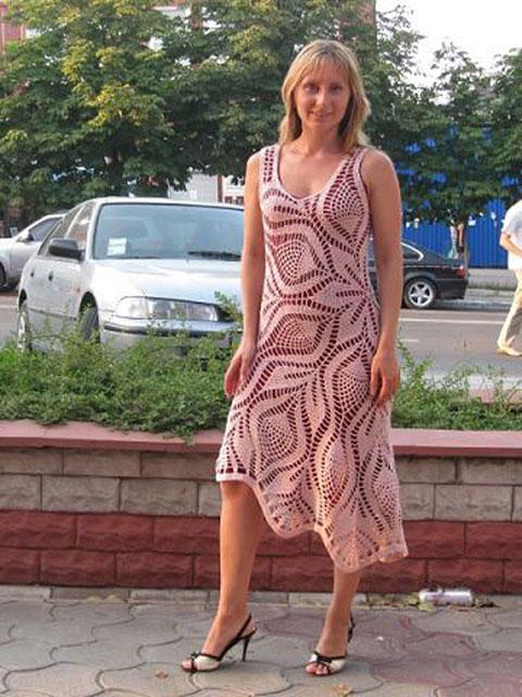 Салфеточное платье
