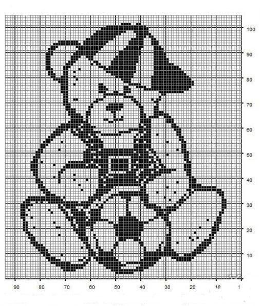 Схема Медведь футболист