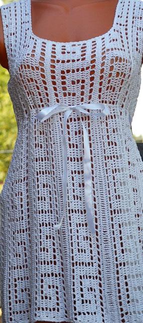 Туника в греческом стиле крючком – схема вязания узора и описание, МК видео
