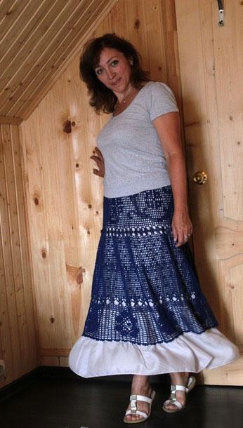 Готовая юбка с белым подъюбником
