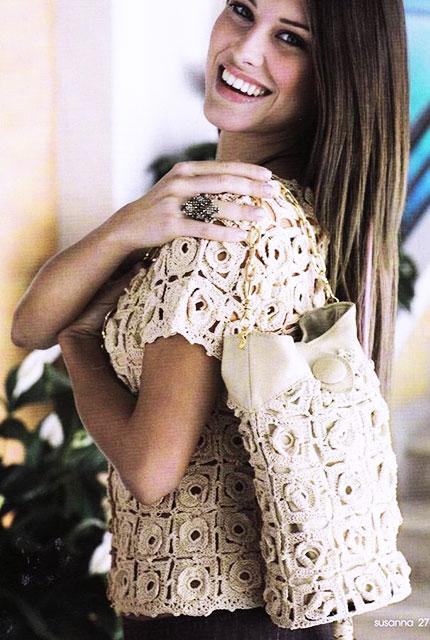 Блуза и сумка Аленький цветочек
